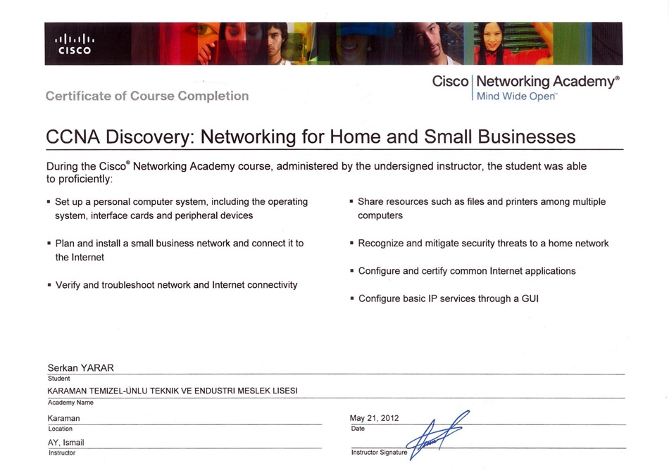 CCNA Discovery: Networking for Home and Small Business